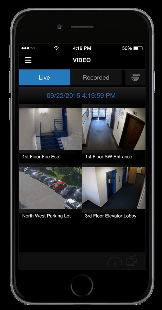 OpenEye mobile on iPhone